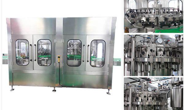 स्वयंचलित बिअर वोडका वाइन ग्लास बाटली भरणे मशीन