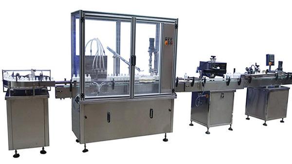 कॅपिंग आणि लेबलिंग मशीन स्वयंचलित बाटली भरणे