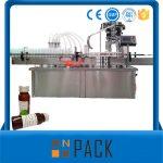 कॅपिंगसह स्वयंचलित रोटरी बाटली लिक्विड फिलिंग मशीन