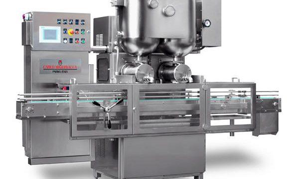 डबल हेड्स सेमी-ऑटोमॅटिक फ्रूट जाम फिलिंग मशीन