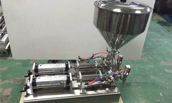 मोठ्या प्रमाणात वापरलेले डबल हेड स्ट्रॉबेरी जाम फिलिंग मशीन