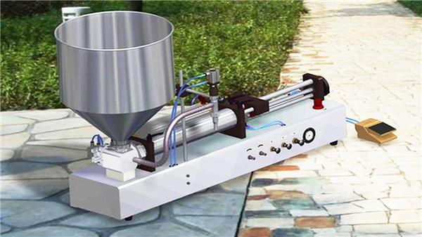 अर्ध-ऑटो अनुलंब दात पेस्ट फिलिंग मशीन