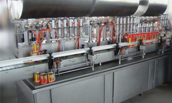 डबल-हेड पूर्ण-स्वयंचलित मिरची पेस्ट फिलिंग मशीन